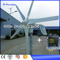 High Tech Rated Power 400W Max 600w Small Wind Turbine Generator 12V 24V CE With Waterproof