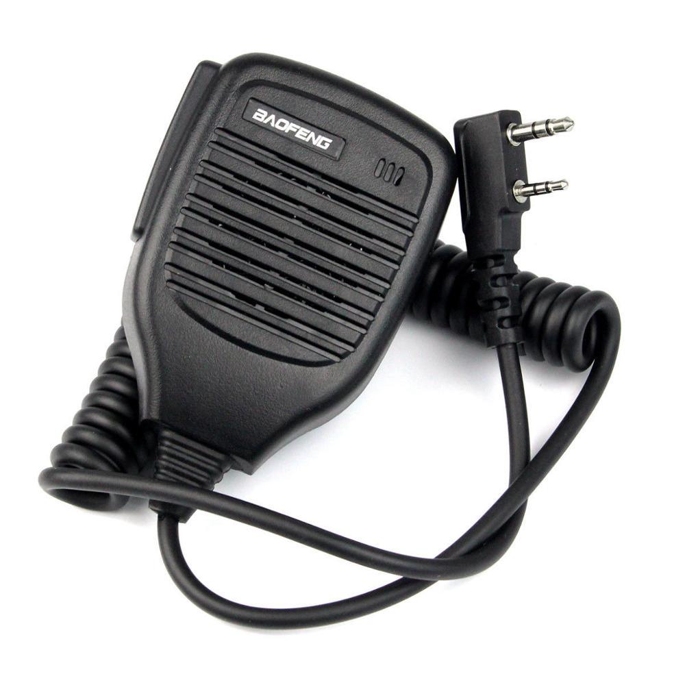 2Pin Handheld PTT Speaker Mic Microphone for BAOFENG Retevis TYT WOUXUN(China)