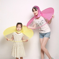 1pcFolding Portable UFO Cap Transparent Umbrella Creative Personality Fishing Golf Rain Umbrella Cover Outdoor For Kids