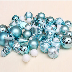Image 4 - FUNNYBUNNY 50pcs Christmas Balls Ornaments Set Decorative Baubles Pendants with Reusable Hand held Gift Package for Xmas Tree