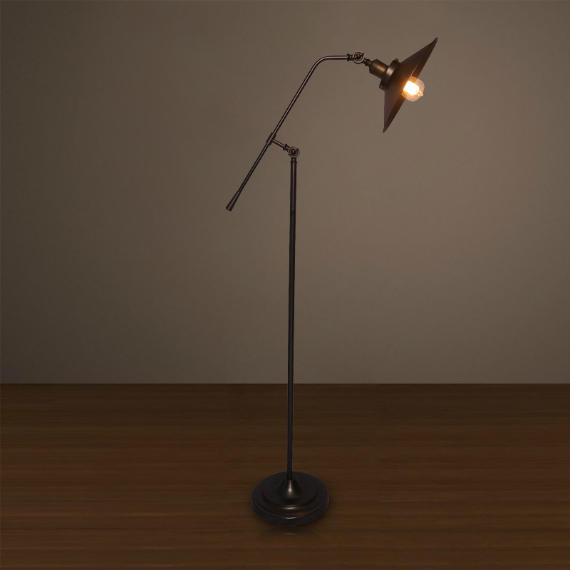 American Style Iron Floor Lamps Home Lamp Study Room Reading