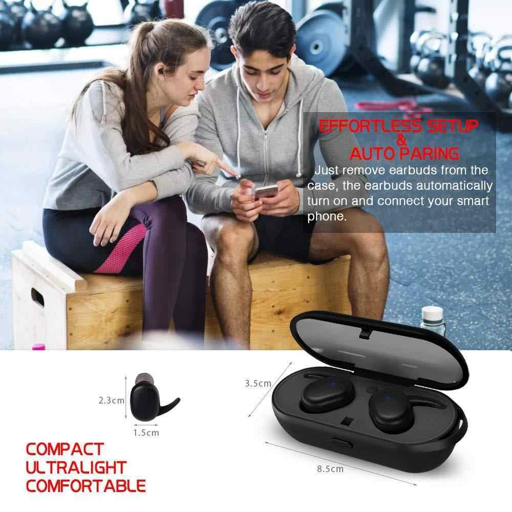 Bluetooth 5,0 наушники мини СПЦ беспроводной гарнитура Touch управление спорт ухо стерео беспроводные с зарядным устройством