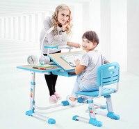 Высокое качество регулируемая высота защиты видения для обучения детей комплект стол и стул