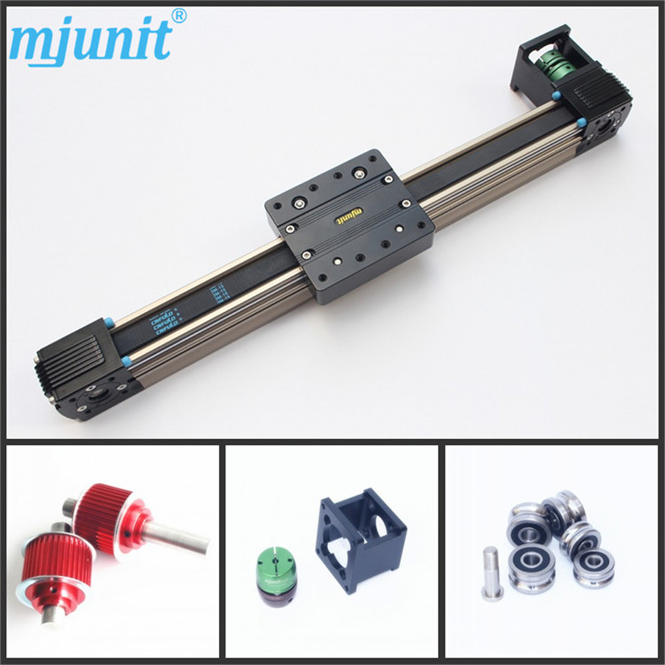 Belt driven linear slide long travel distance guideway linear actuator ball linear rail guide roller shaft guideway toothed belt driven