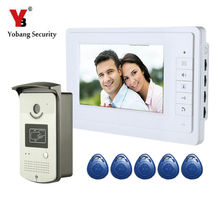YobangSecurity Wired 7″ Inch LCD Video Door Bell Phone Intercom RFID Card Access Control Home Gate Entry System for Apartment