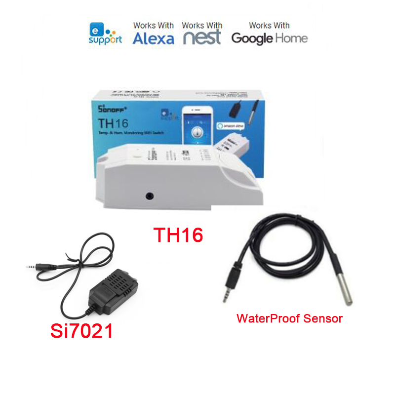 Itead Sonoff TH 10A/16A,Temperature Humidity Monitor Sensor Switch,WiFi Wireless Smart Home Remote Control Switches Via EwelinkItead Sonoff TH 10A/16A,Temperature Humidity Monitor Sensor Switch,WiFi Wireless Smart Home Remote Control Switches Via Ewelink