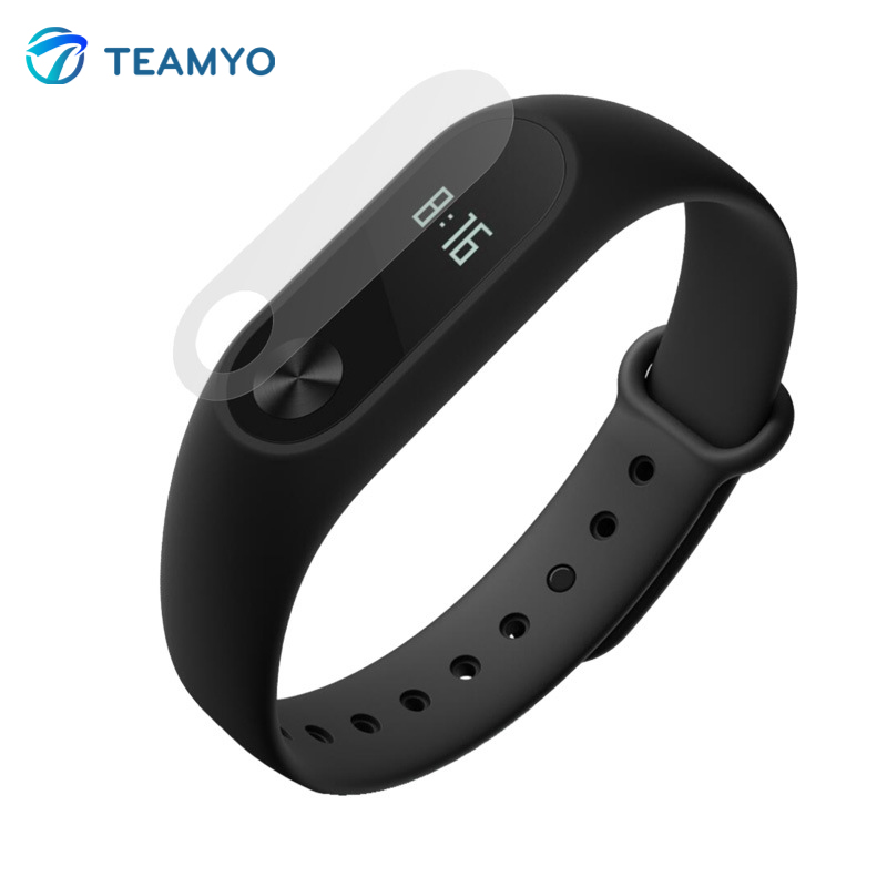 2Pcs/pack High Quality TEAMYO Screen Protectors Film HD Scratch-proof For Xiaomi Mi Band 2 Smart Wristband Bracelet Accessories