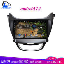 4G LTE  WIFI Android 8.1 car gps multimedia video radio player in dash for Hyundai Elantra 2012-2015 years navigation stereo