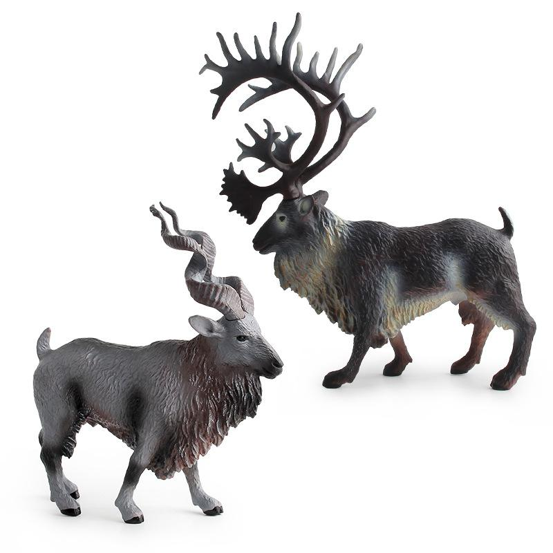 Simulate Reindeer Shape Animal Modeling Toy Store Decoration in Action Toy Figures from Toys Hobbies