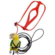 Попугай шлейка и поводок Летающий анти-укуса Тяговый канат птица обучение открытый переноски для Psittacus алый Ара Попугаи Птицы