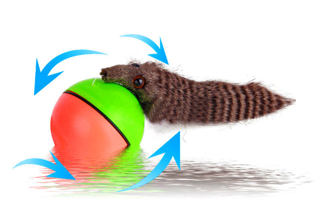 Electric Ball Toy With Weasel For Cats