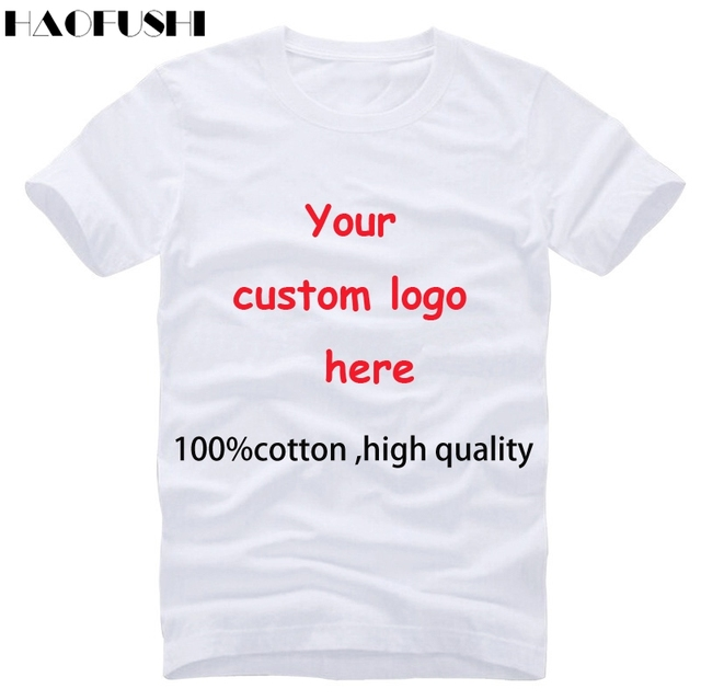 e7aeed9c High quality cotton round neck t shirt quick custom logo texts tshirt Men's  Printed short sleeve Men tops tee