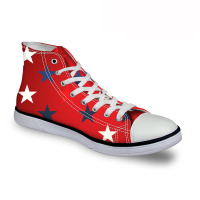 Noisydesigns Mens Sneakers Man high top canvas shoes Red Shoes Men Shose Casual flat bottom Red bottoms Designer Sneaker race