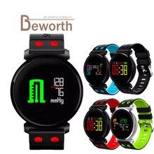 K2 умный Браслет Фитнес группа Приборы для измерения артериального давления сердечного ритма Мониторы крови кислородом IP68 Водонепроницаемый OLED Цвет Экран SmartBand часы