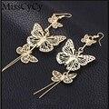 MissCyCy Fashion 2016 Zinc Alloy Hot Selling Rock Exaggerated Hollow Butterfly Earrings  Earrings For Women