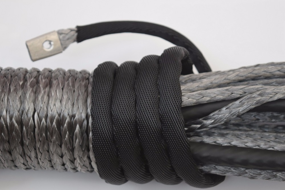 8mm*30m Grey 4x4 SUV Off-road Synthetic Winch Cable,ATV Winch Line,Spectra Rope,Replacement Winch Rope