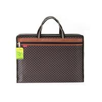 Fashion Canvas Business Document Bag A4 Binder Tote File Folder Filing Meeting Bag Zipper Pocket Office