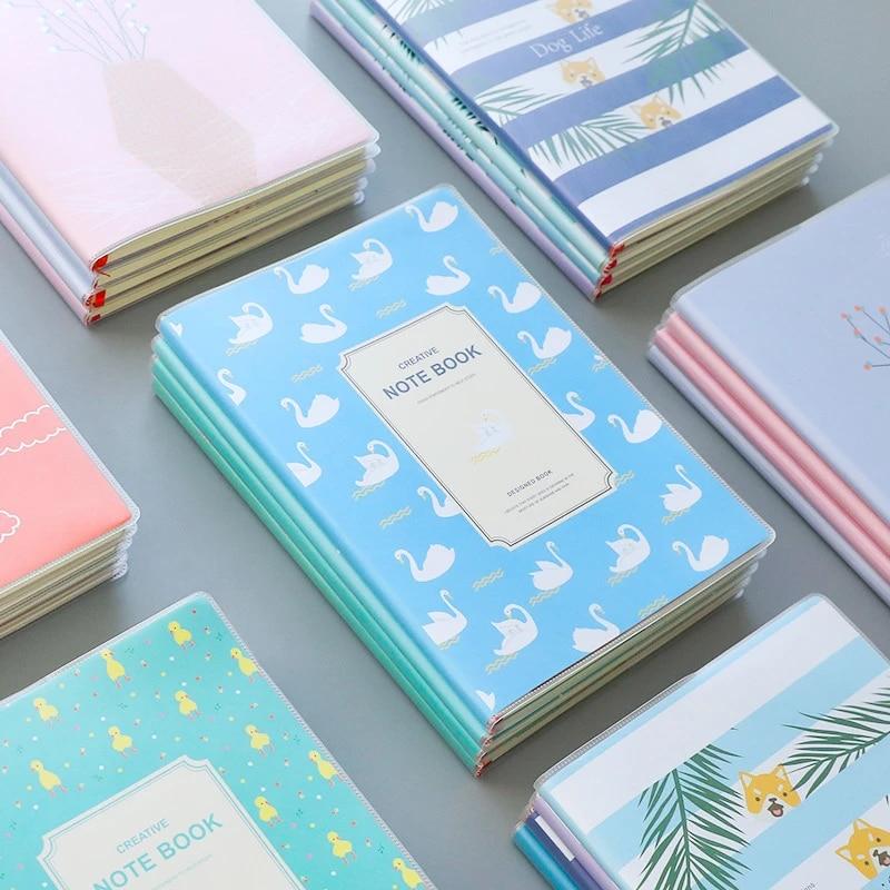 A5 Aesthetic Waterproof Transparent Pvc Planner Binder Notebook Soft Binding Note Books Japanese School Supplies Notebooks AliExpress