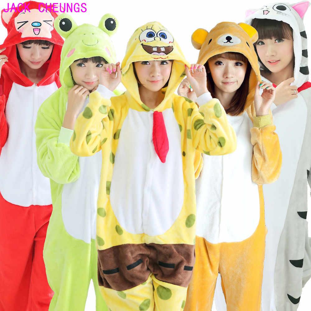 Кигуруми Тигр енот волк комбинезоны пижамы с животными из мультфильмов  Костюм Пикачу doraemon собака стежка пижамы c0fa20b868a0c