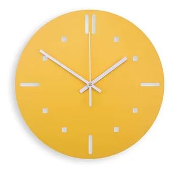 Modern Design Silent Wall Art Clock Lemon Large Child Clock Metal Electronic Reloj Pared Big Wall Watches Home Decor 50ZB0070