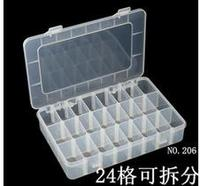 24 Slot Clear Electronic Components Storage Organizer Assortment Box Plastic Case Convenience Store Small Items