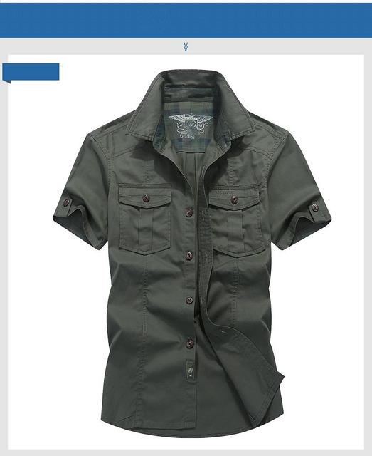 2019 AFS JEEP Plaid Collar Casual Denim Shirts