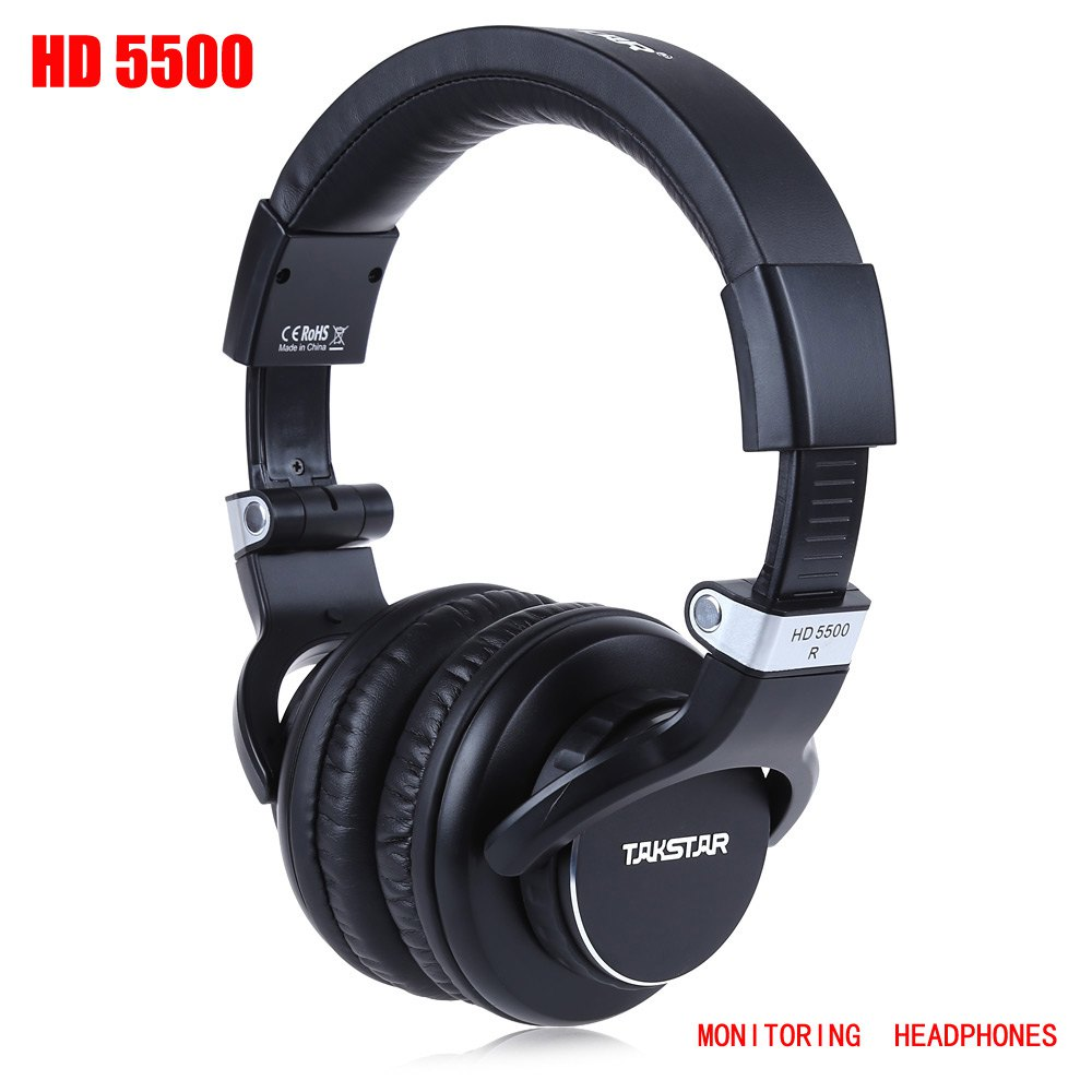 ФОТО Original Takstar HD5500 Headpones Enclosed Adjustable Headband Monitoring Noise Cancelling Headset With Deep Bass Audio Earphone