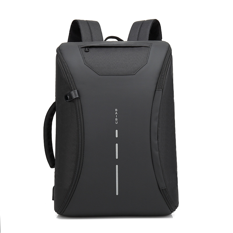 BAIBU Multifunction Men Backpack Fashion Casual Student School Bag External USB Charge Laptop Backpack Waterproof Travel Mochila 15inch laptop backpack men high quality waterproof oxford student school backpack bag multifunction casual travel male mochila