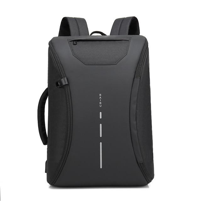 41ace2507ec BAIBU Multifunction Men Backpack Fashion Casual Student School Bag External  USB Charge Laptop Backpack Waterproof Travel Mochila