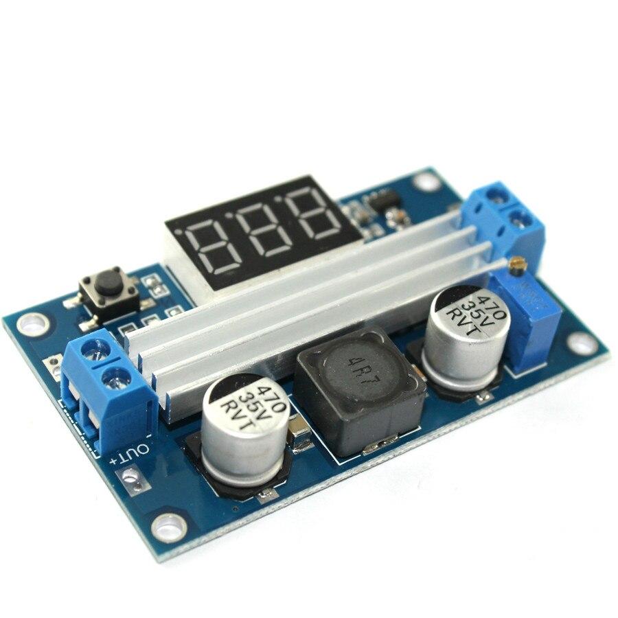 цена на DC DC-DC 3~35V to 3.5~35V LTC1871 Booster step up Step-up module Converter Regulated Power Supply+VoltMeter