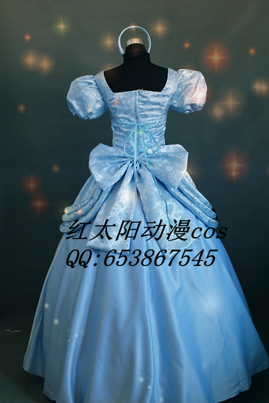 Adult Cinderella Deluxe Dresses Paternity Suit Halloween Party Cosplay Costume Home