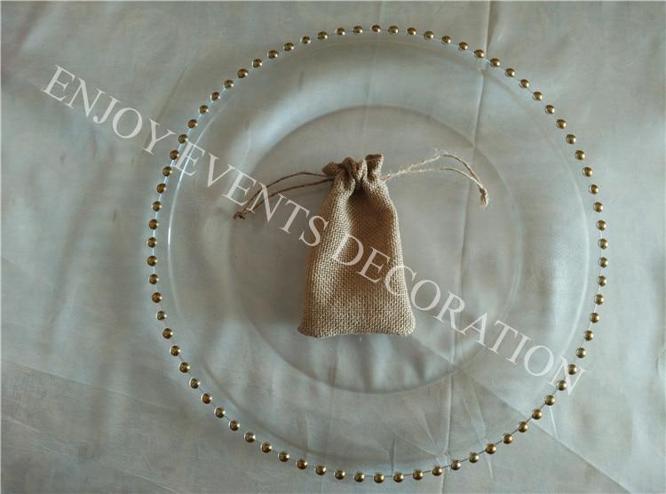 300pcs YHA#103 elegent burlap favourite bag 8cm*12cm with lace decor for any events