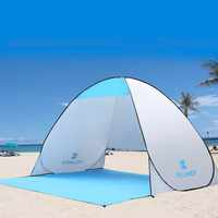 Fabulous Keumer 3 4 Person Quick Automatic Opening Single Canvas Tent Outdoor Camping Beach Pop Up Open Uv Protective Awning Tents Download Free Architecture Designs Itiscsunscenecom