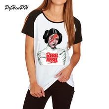 """Для женщин, футболка с изображением героев мультфильма «Звездные войны» в минималистском стиле """"Принцесса Лея"""" Лея Rebel Принт футболки tumblr рубашка большого размера летняя хлопковая Футболка"""