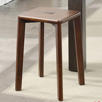Устойчивый деревянный стул дома взрослых небольшой скамейке гостиная обеденный табурет Творческий Круглый/квадратный стул для макияжа