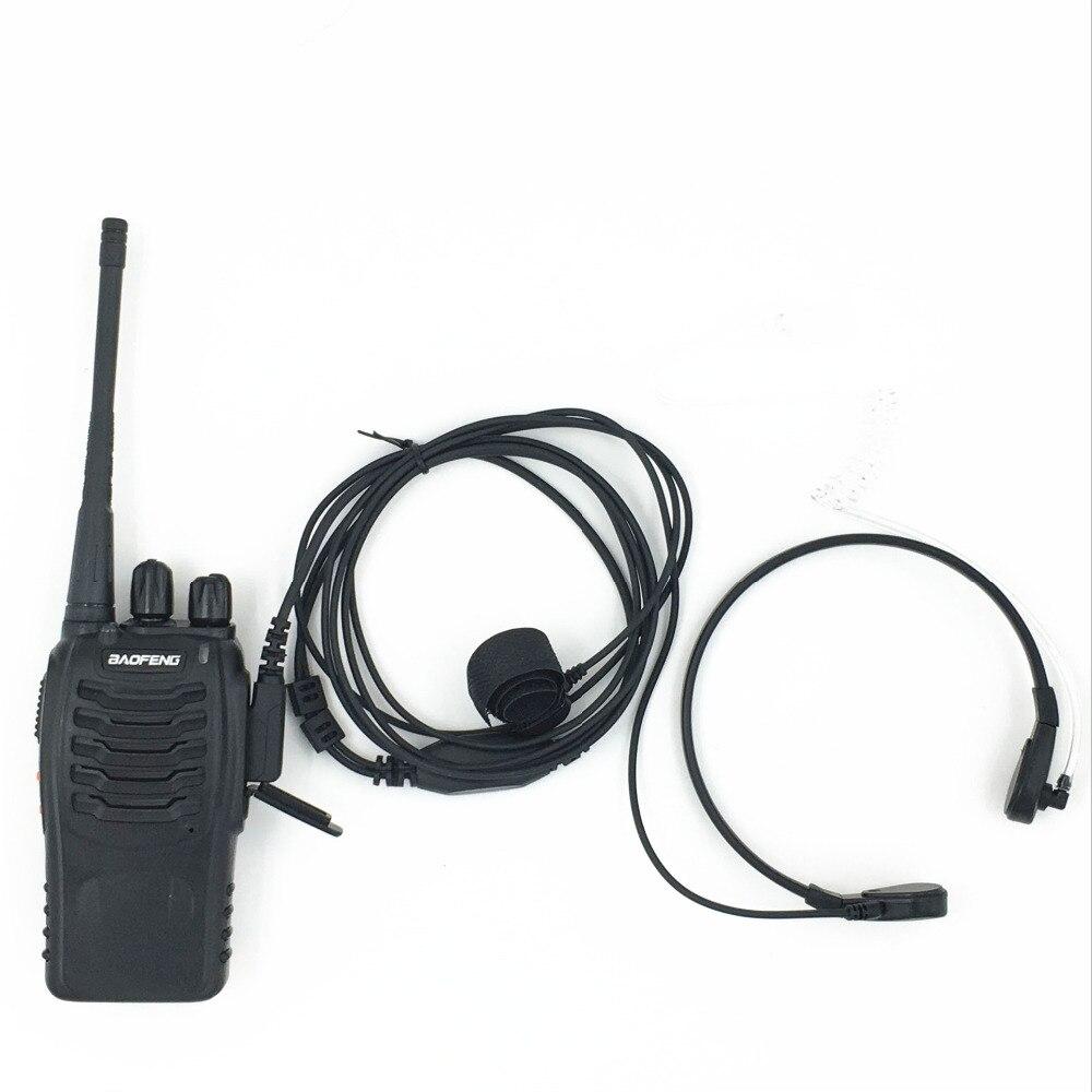 BaoFeng Walkie Talkie Headset Accessories Extendable Throat Microphone Headset Microphone TK Port Mic PPT Earpiece Baofeng Uv5r