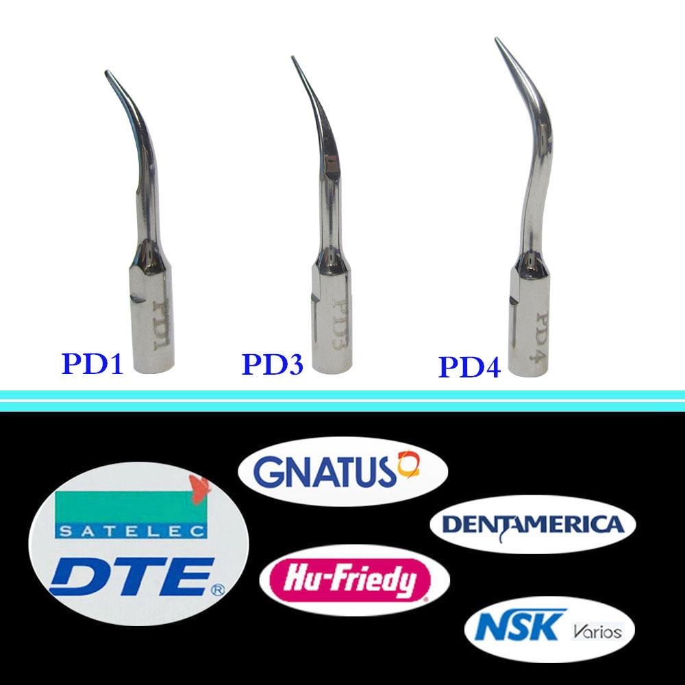 3 pieces/set Dental Ultrasonic Scaler Tip PD1, PD3, PD4 for DTE/ Satelec/ NSK Varios/ Gnatus/ Bonart/ Rollence-S/ HU-FRIEDY 1 set spkg dental scaler perio tips kit for satelec endosuccess retreatment nsk paro set b and gnatus hu friedy dental scalers