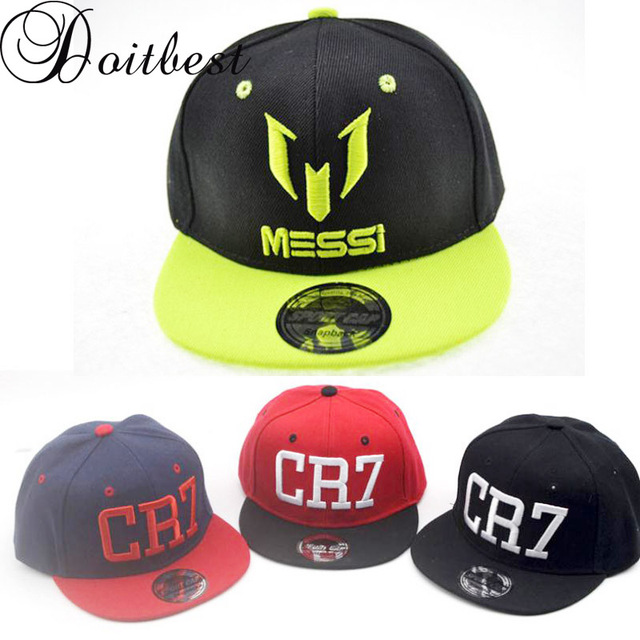 Doitbest Children Ronaldo CR7 Neymar NJR Baseball Cap Hat Fashion Boys  Girls Kids MESSI Snapback Hats Hip Hop Caps Gorras 767c207363c3