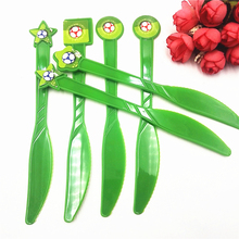 6pcs/set Football Plastic Knives Kids Birthday Party Supplies Baby Shower Tableware Decoration Soccer Theme Favors