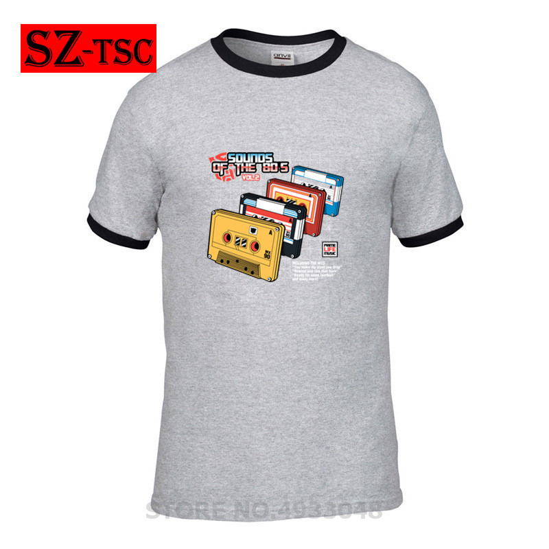 Fashion 100% Cotton T Shirt Men Sounds of the 80s Vol2 80s Music T-Shirt Summer Casual Short Sleeve Printed Tees image