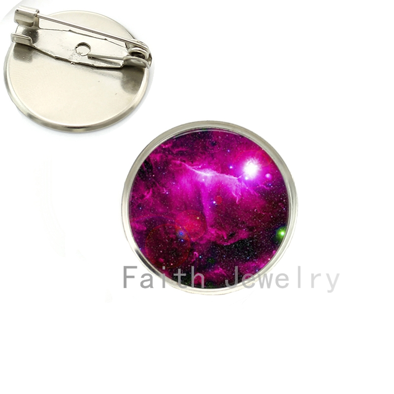 2017 Sale Charming Outer Space Nebula Pture Brooches Astronomy Geek Jewelry Sci-fi Science Galaxy Brooch Gift Wholesale Ns083