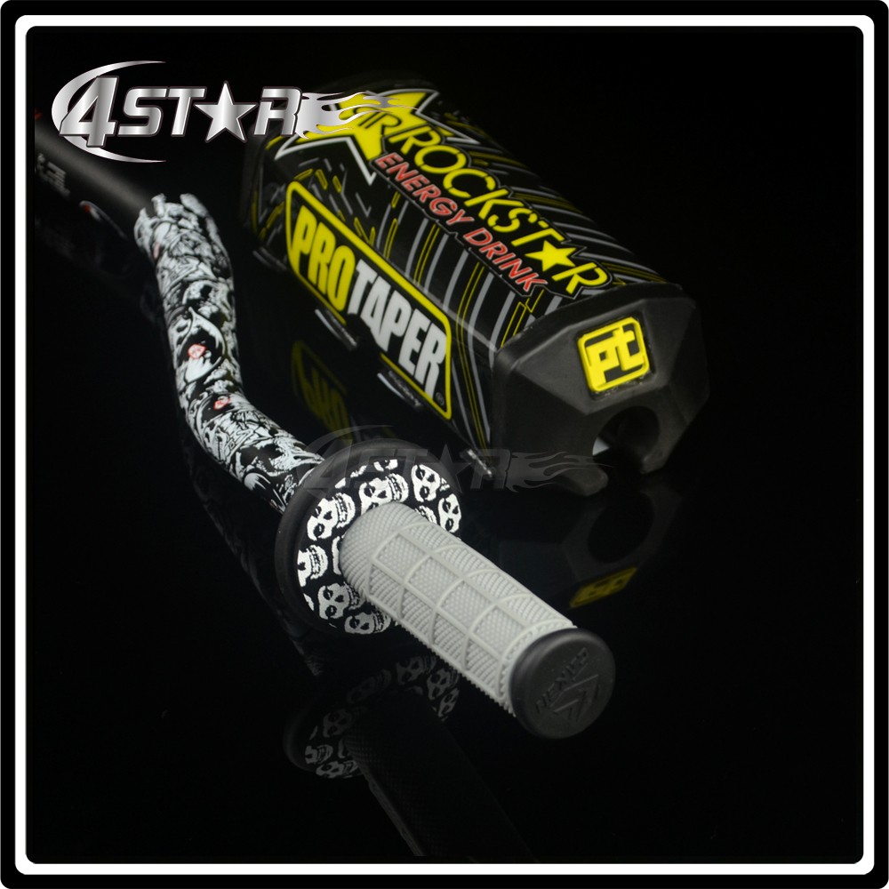"""1 1/8"""" fat bar 28mm handlebars+grips+bar clamps+bar pad motorcycle"""