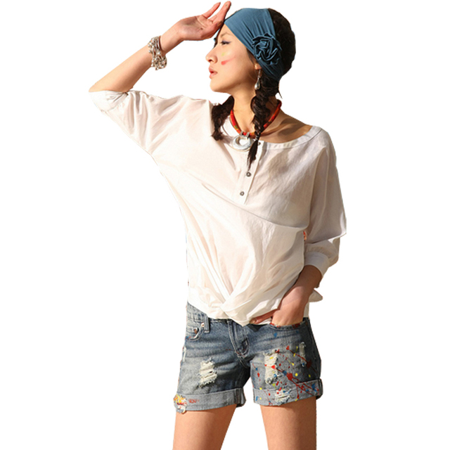National retro trend jeans doodle single-shorts finishing denim shorts colored drawing distrressed