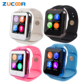 Smart Wrist Watch Phone V88 Heart Rate Monitor Support SIM TF Card Smartwatch Wristwatch Camera Pedometer For Android Children