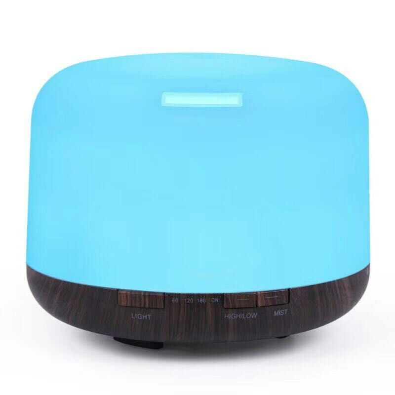 500ML Essential Oil Diffuser Ultrasonic Air Humidifier with 7 Color LED Light Household Aroma Diffuser Electric Mist Maker remote control air humidifier essential oil diffuser ultrasonic mist maker fogger ultrasonic aroma diffuser atomizer 7 color led