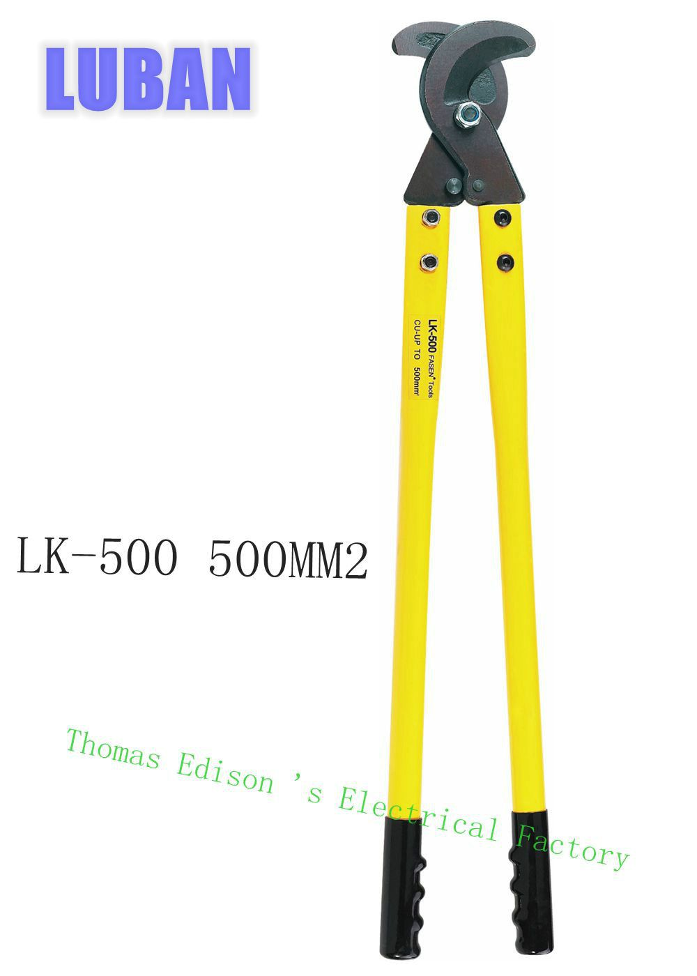 LK-500 500mm2 Max cutting Hand Cable Cutter Plier, Wire Cutter Plier, Hand Tool, not for cutting steel or steel wire