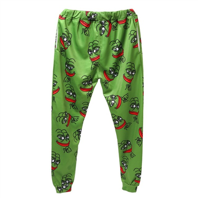 3D Pepe The Frog Joggers Pants Men/Women Funny Cartoon Sweatpants 2018 New Trousers Jogger Pants Elastic Waist Pants Dropship Sweatpants