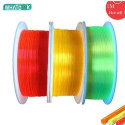 1 m fibra óptica led cabo 0.75mm 1.0mm 1.5mm 2.0mm fluorescência flex óptica nano arma mira arco iluminação luzes de plástico brinquedos