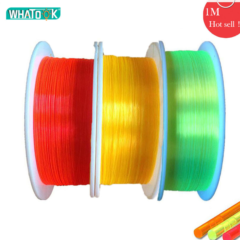 1M Optical Fibre LED Cable 0.75mm 1.0mm 1.5mm 2.0mm Fluorescence Flex Optic Nano Gun Aim Bow Sight Lighting Plastic Lights Toys