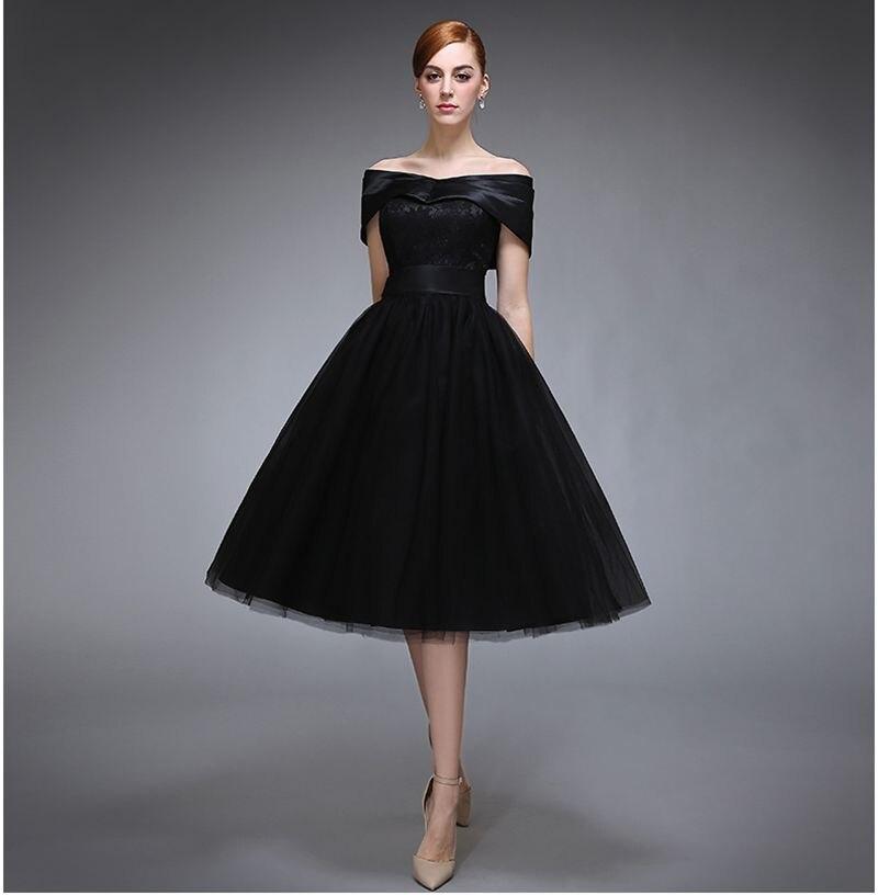 Off The Shoulder Cocktail Dress - Vosoi.com